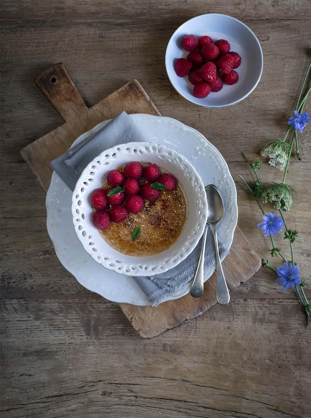 ricette Crème brulée con more e lamponi