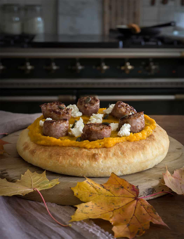 ricette pizza gourmet con crema di zucca