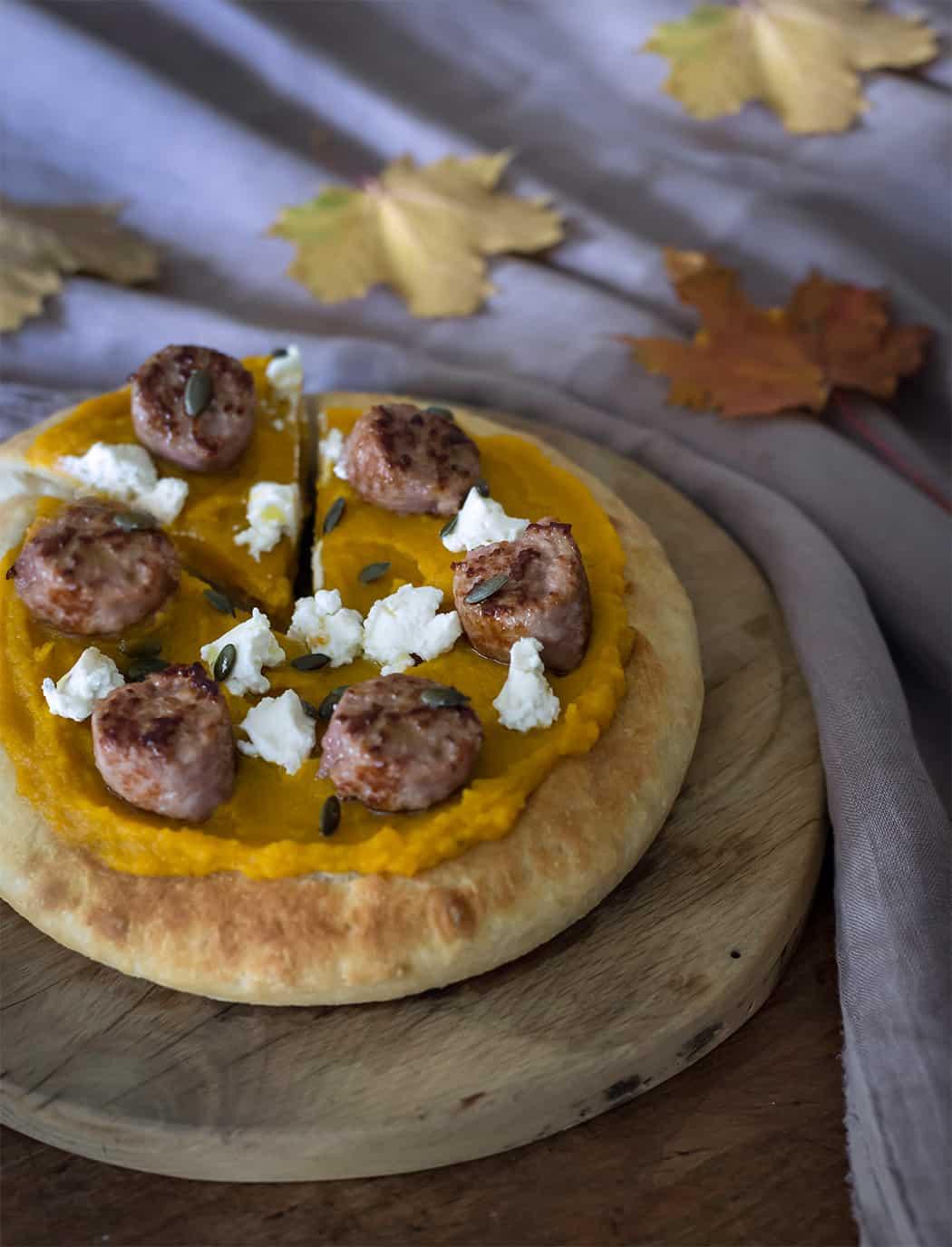 ricetta pizza veloce con zucca