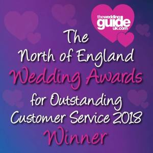 The North Of England Wedding Awards For Outstanding Customer Service 2018 Winner!