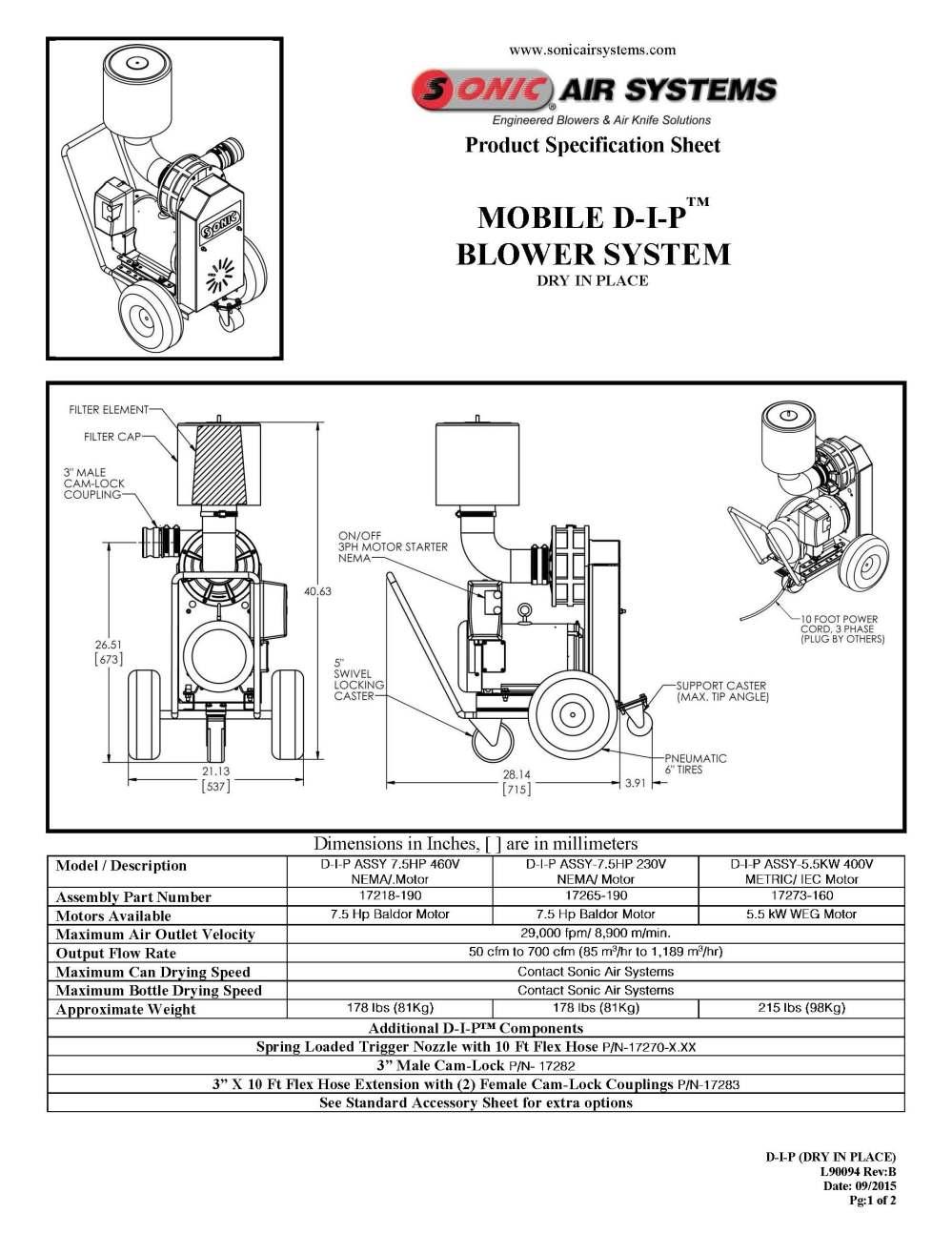 medium resolution of specification sheet