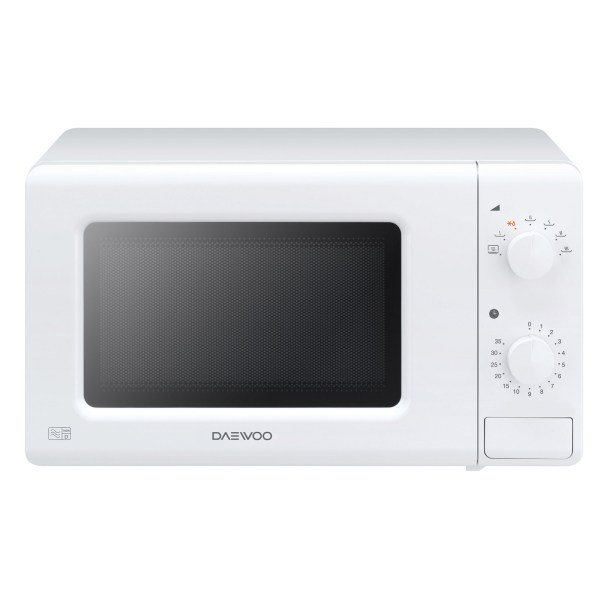 Daewoo Kor6m17 Microwave Oven In White 20l 700w Dial Controls