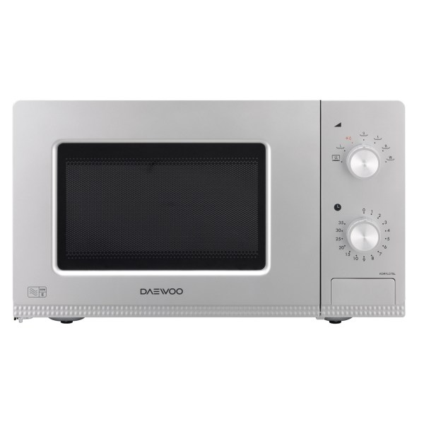 Daewoo Kor7lc7sl Microwave Oven In Silver 20l 800w Dial