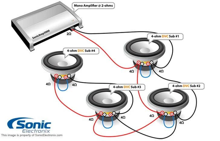 wiring diagram for dvc subwoofer