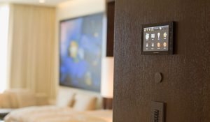 Wall-Mounted Crestron Touch Panel Controller
