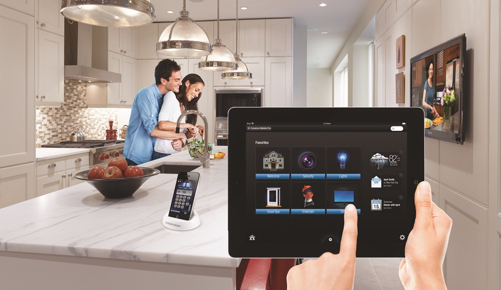 Control your entire home with Crestron or Fibaro Remote Controllers (Lifestyle Image)