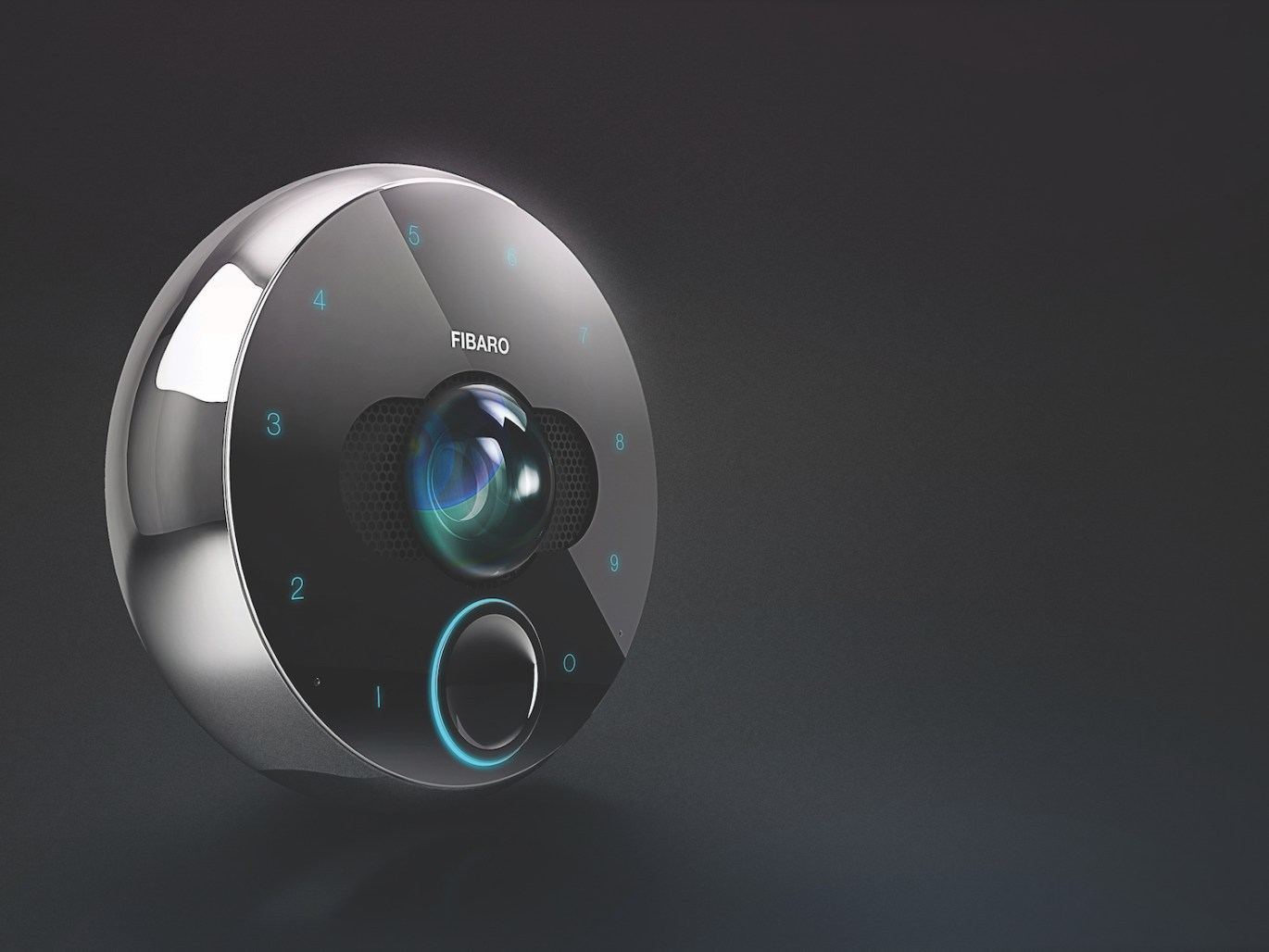 Fibaro Video Intercom Closeup Image – Available in Vancouver & Toronto Canada Sonic Systems Stores