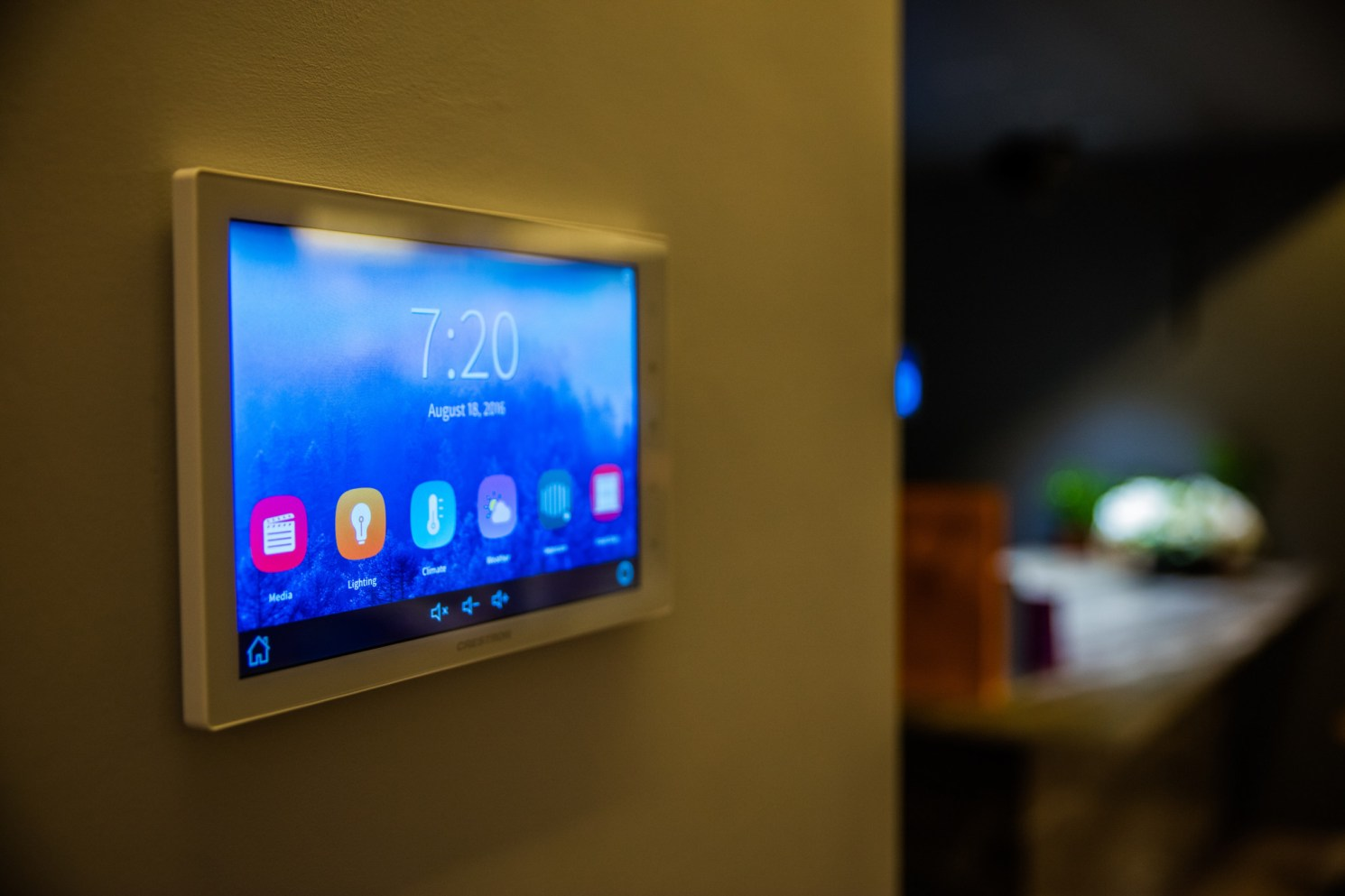 Crestron Tablet Controller Wall-Mounted –Lifestyle Image –Vancouver Page