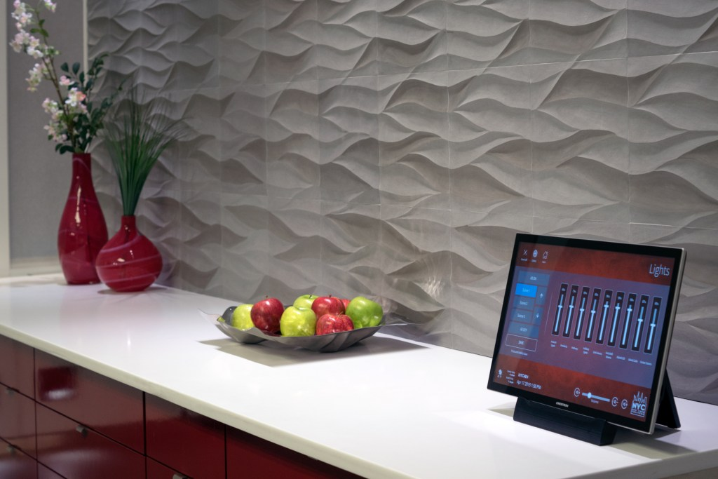 Crestron Tablet Controller on Counter – Lifestyle Image – Vancouver Page