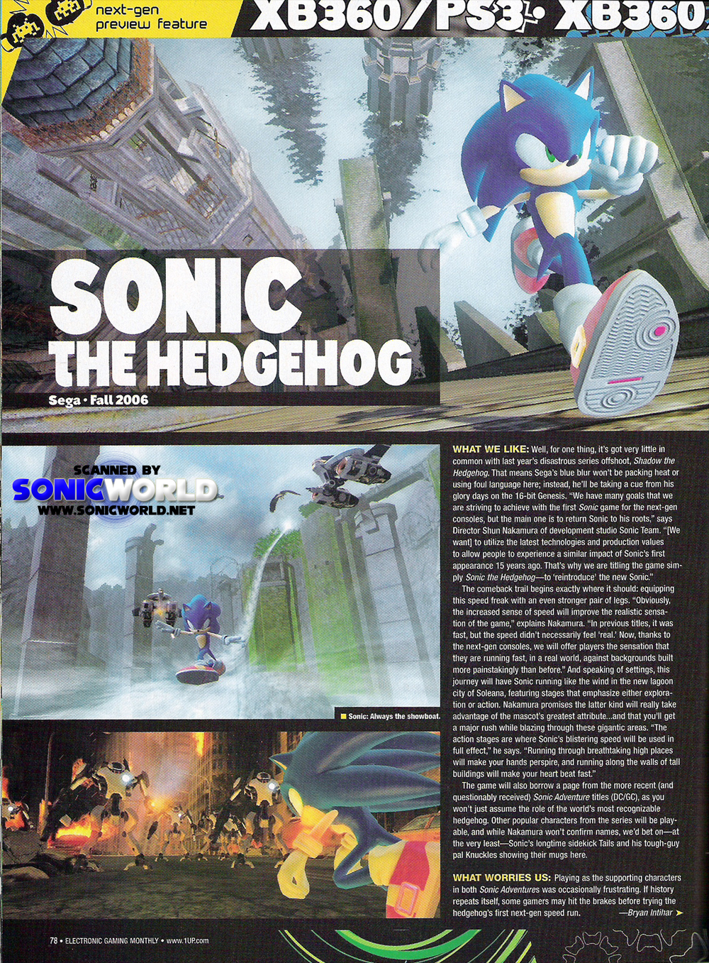 Sonic World Game Info Archive Sonic The Hedgehog 2006 Scans