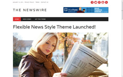 The Newswire Free WP Responsive Theme