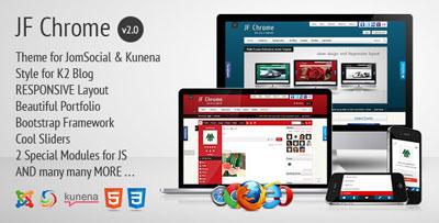 JF Chrome - Joomla Kunena JomSocial Template