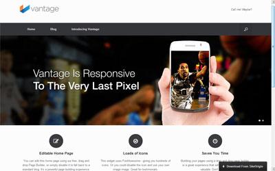 vantage free responsive wordpress theme