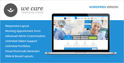 We Care - Medical and Health WordPress Theme