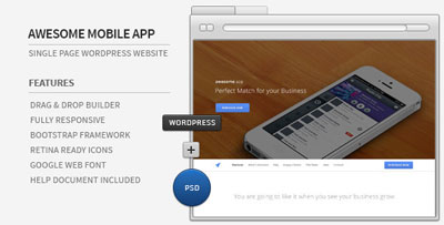 Awesome App Responsive Parallax WordPress Theme