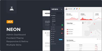 Neon Perfect Admin Control Panel Theme