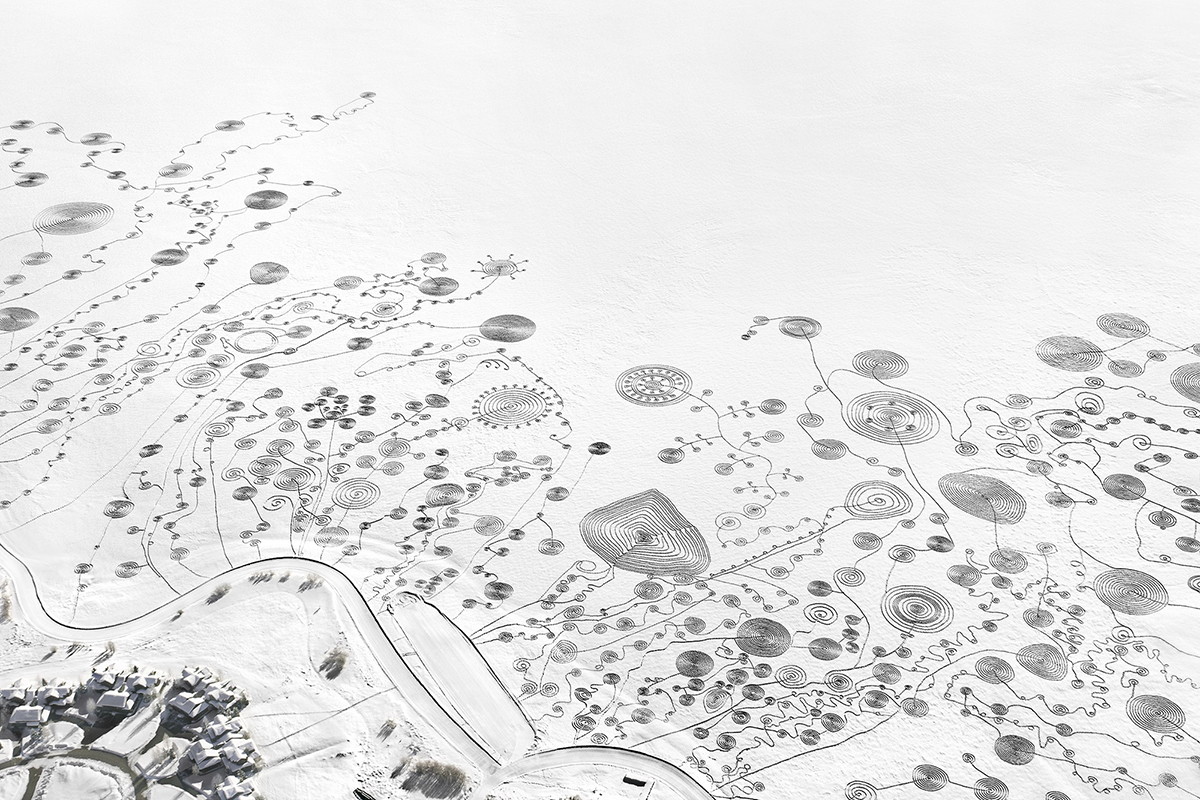 Snow Drawings At Catamount Lake Colorado