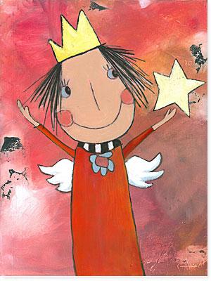 Acrylbild Prinzessin Kinderlieb  Atelier BuntePunkt