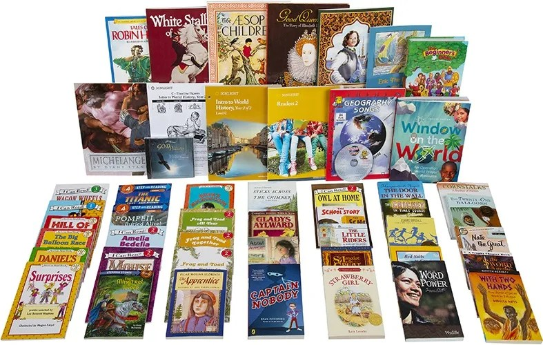 """Core C History, Bible, Language Arts, Reading<span class=""""title-options""""> with Grade 2 Readers - 5-Day</span> CC2R5"""