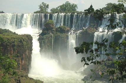 Die Wasserflle von Iguaz in Brasilien