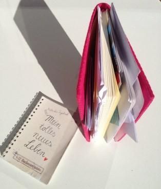 gefülltes Notizbuch