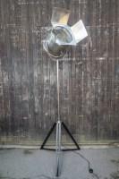 Stehlampe, Scheinwerfer silber, Retro, Vintage ...