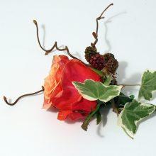 autumn buttonhole blackberries