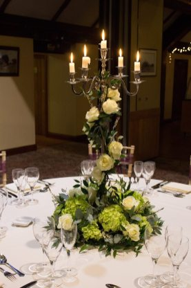 Silver Candelabra with a twist of flowers