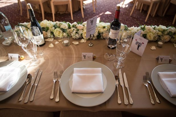 Top table arrangement at Hedsor House