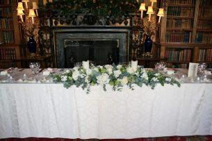 Top table arrangement at Highclere Castle