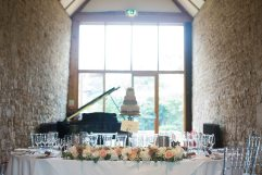 Top table arrangement at Notley Abbey