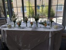 Top table arrangement at Botley Mansion