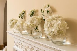 Mantelpiece flowers at Notley Abbey