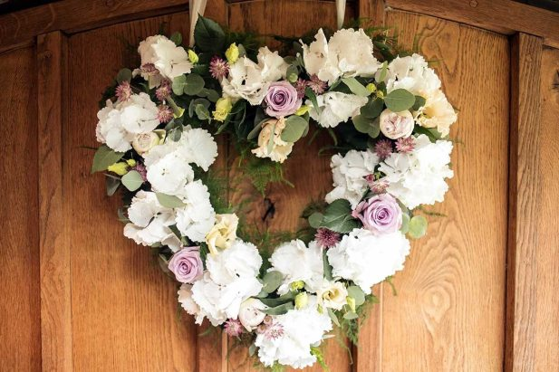 heart shaped funeral tribute
