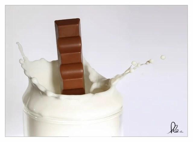 Kinderriegel trifft Milch