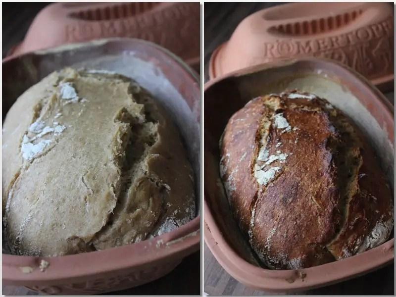 Schon einmal Kartoffelsauerteigbrot im Römertopf gemacht?