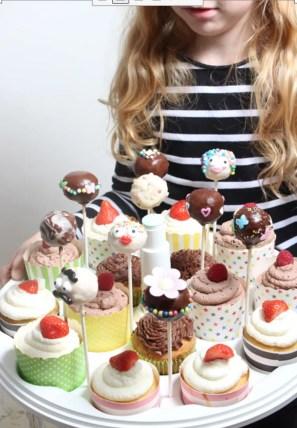 Cake Pops-Kuchen am Stiel