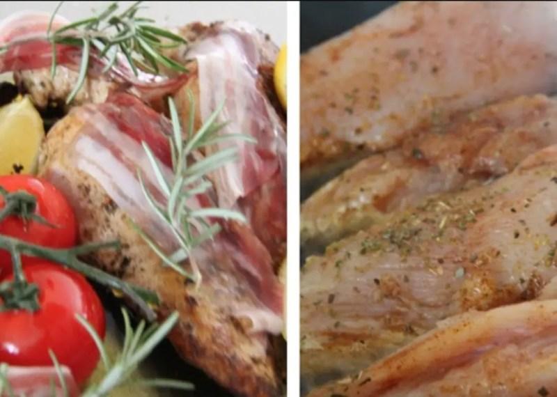 Hähnchen & Tomaten aus dem Ofen, zerdrückte Bratkartoffeln, Rahmspinat & Erdbeere-Slush alla Jamie Oliver 30 Minuten Menü