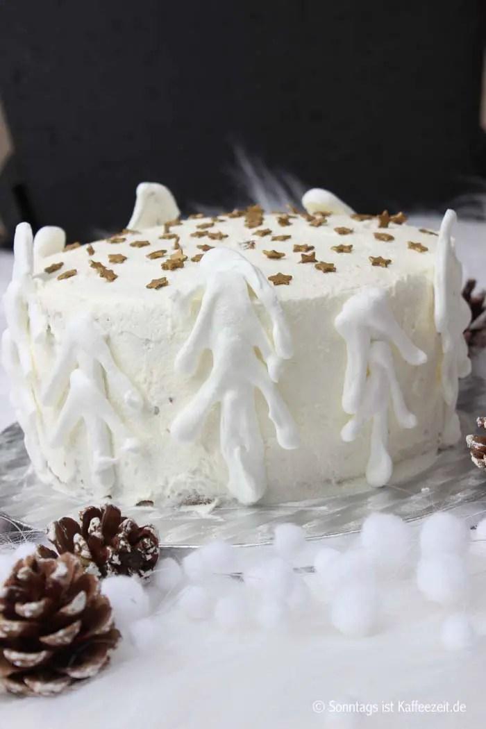 Winterliche Kerrygold Irish Cream Liqueur Torte