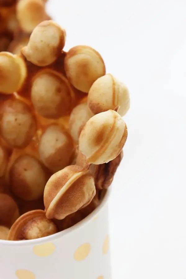 Bubble Waffles mit dem Bubble-Waffeleisen kein Problem - Der neue Food-Trend aus Hongkong