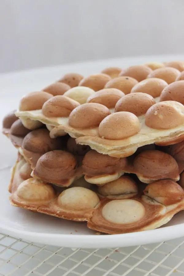 Bubble Waffles mit dem Bubble-Waffeleisen