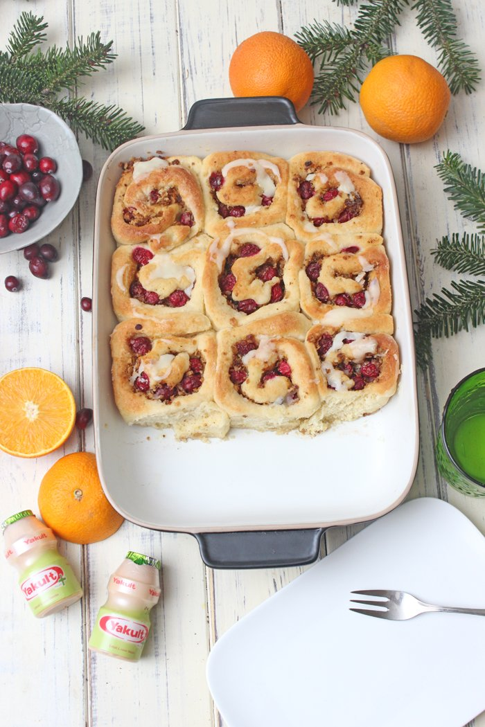 Christmas Cinnamon Rolls UND Adventsstimmung ohne Stress mit Yakult