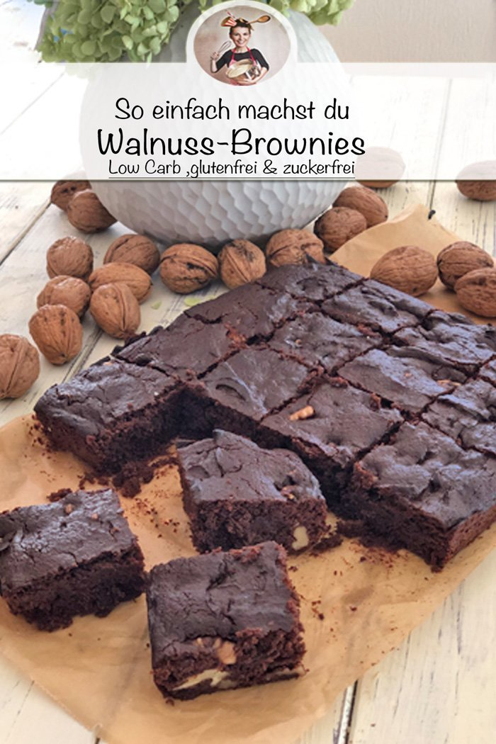 So machst du Walnuss-Brownies | Low Carb & zuckerfrei