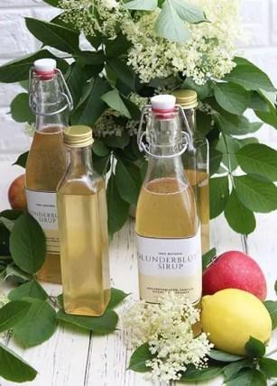 Holunderblütensirup mit Zitrone, Vanille & Apfelsaft – Ideal zum Trinken & Backen