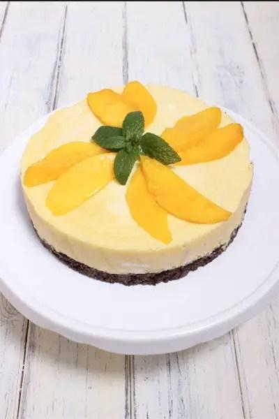 Mango-Ananascreme-Torte ohne zu Backen