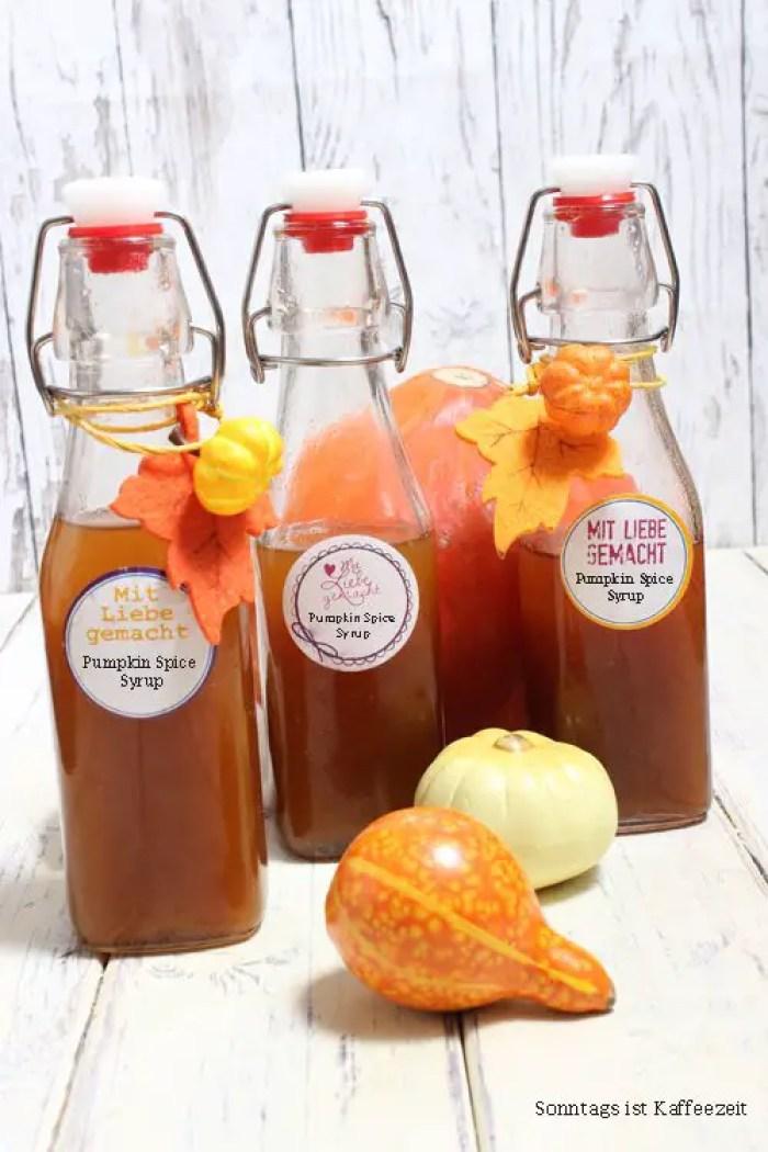 Pumpkin Spice Sirup - Pumpkin Spice Latte