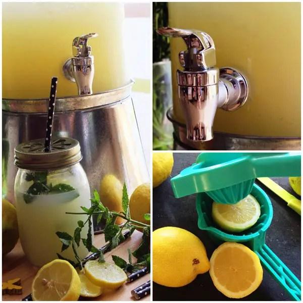 Selbstgemachte Zitronenlimonade für die heißen Tagen