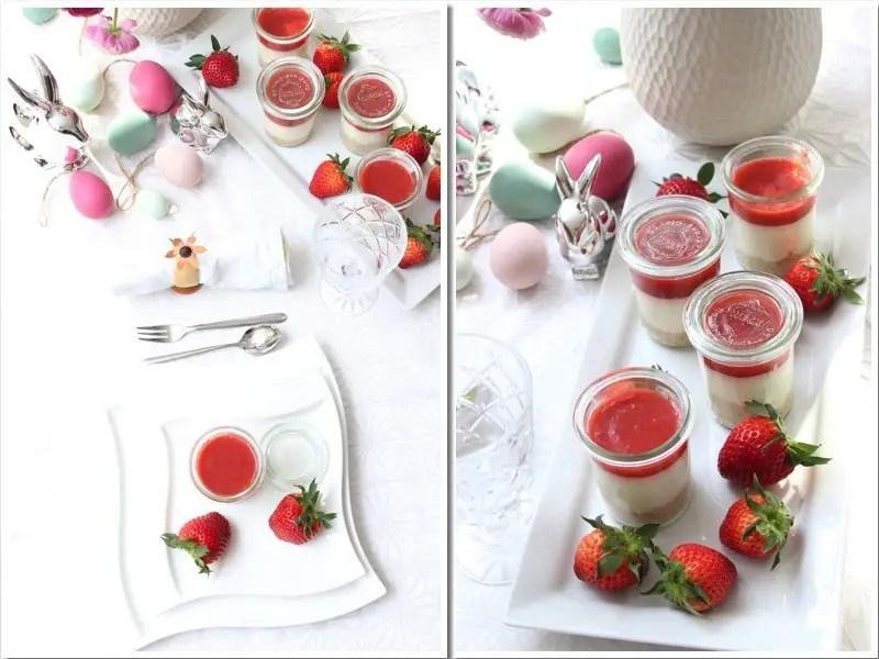 Rhabarber-Erdbeer-Cheesecake im Glas