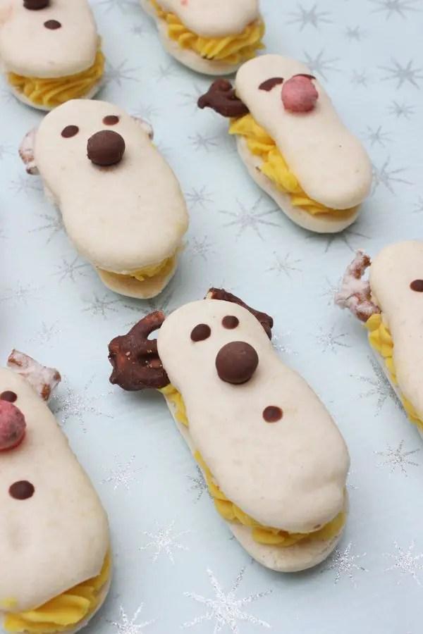 Rudolf-Macarons mit Lemon Curd zur Weihnachtszeit