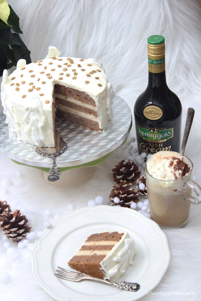 Kerrygold Irish Cream Liqueur Torte - Weihnachtliches Rezept